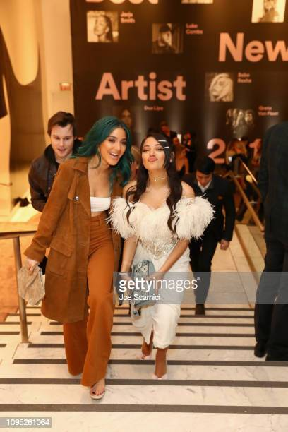 Niki Demartino and Gabi DeMartino attend Spotify Best New Artist 2019 event at Hammer Museum on February 7 2019 in Los Angeles California
