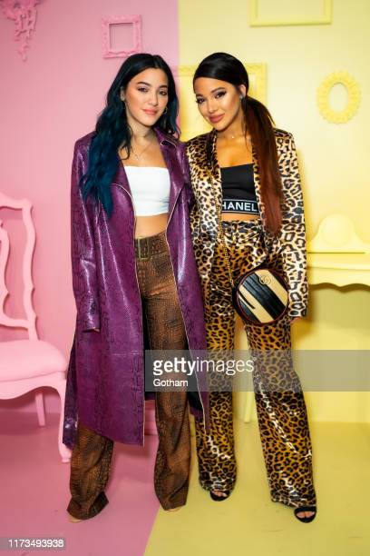 Niki Demartino and Gabi Demartino attend the Alice Olivia by Stacey Bendet presentation during New York Fashion Week The Shows at Root Studio on...