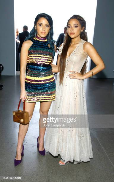 Niki Demartino and Gabi DeMartino attend the Hogan McLaughlin front Row during New York Fashion Week The Shows at Gallery II at Spring Studios on...