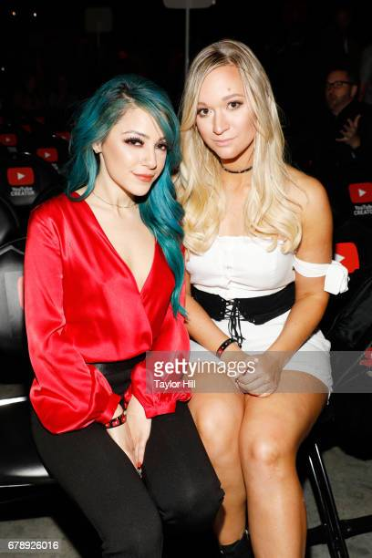Niki Demartino and Gabriella Demartino of Niki Gabi attend YouTube #Brandcast presented by Google at Javits Center North on May 4 2017 in New York...