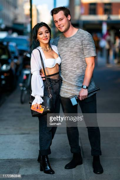 Niki Demartino and Nate West attend E Elle IMG NYFW KickOff Party at the Boom Boom Room on September 04 2019 in New York City
