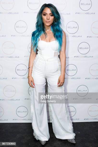Niki DeMartino attends the Niki Gabi DeMartino X Bellami Collection Launch Party at Avenue on May 10 2018 in Los Angeles California