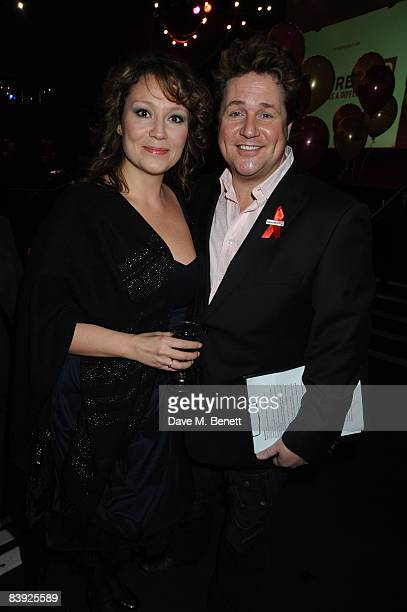 Niki Evans and Michael Ball attend the Whatsonstagecom Theatregoers' Choice Awards lunchtime launch ceremony and party at the London Hippodrome on...