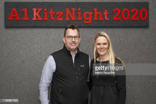 Niki Hosp of Austria with Guest on the A1 Kitz Night 2020 on the Audi FIS alpine ski world cup on January 24 2020 in Kitzbuehel Austria