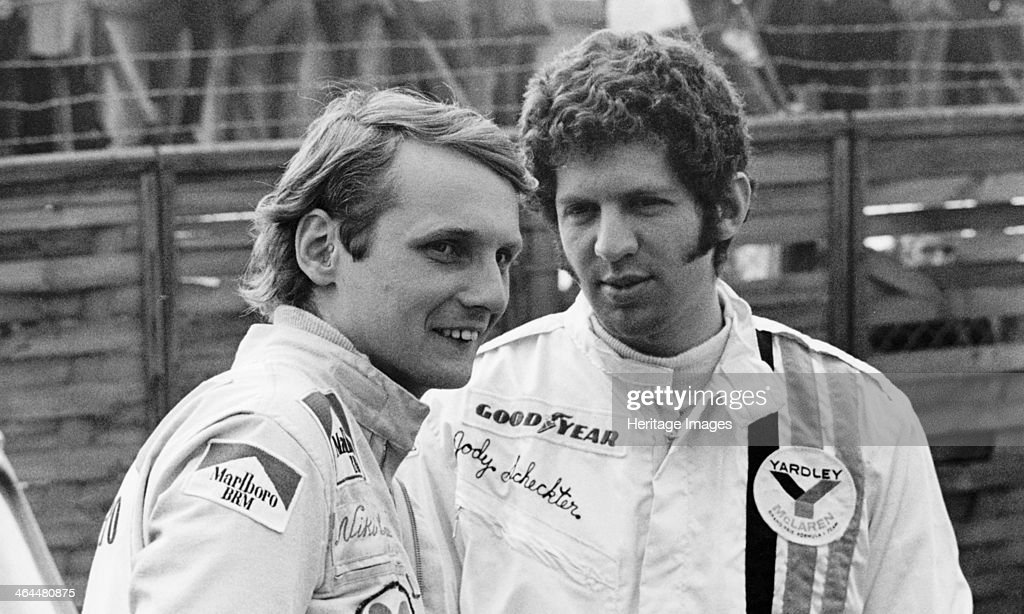 Niki Lauda and Jody Schekter, Race of Champions, Brands Hatch, Kent, 1973. : News Photo