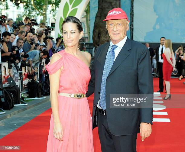 Racer Niki Lauda with wife Birgit Wetzinger