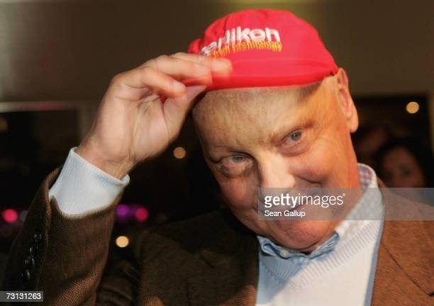 Niki Lauda attends the Kitz Race Party after the Hahnenkamm slalom races January 27 2007 in Kitzbuehel Austria