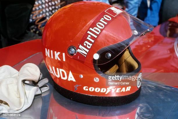 Niki Lauda Ferrari 312T Grand Prix of Monaco Circuit de Monaco 11 May 1975 Niki Lauda's helmet