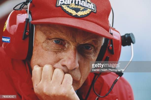 Niki Lauda former F1 Grand Prix World Champion motorsport television commentator and consultant for the Scuderia Ferrari during the Formula One...