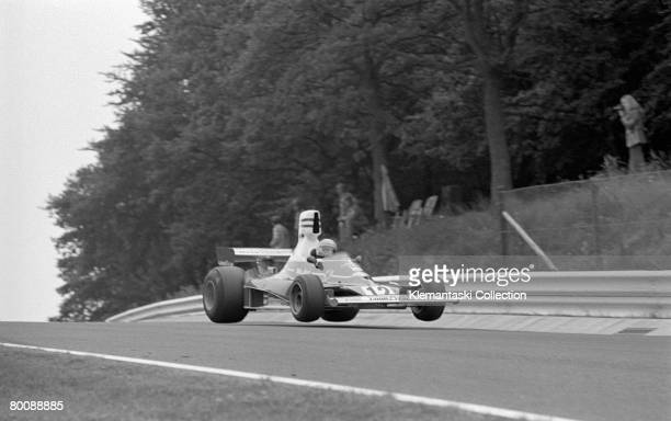 Niki Lauda in his Ferrari 312T during the German Grand Prix at Nurburgring, 3rd August 1975. He qualified on in pole position and eventually finished...