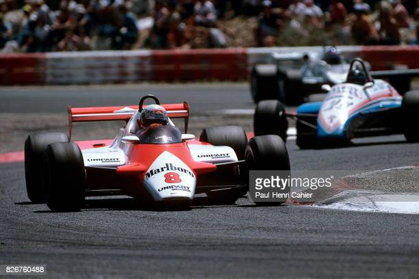 Niki Lauda Jacques Laffite McLarenFord MP4/1B LigierMatra JS17 Grand Prix of France Paul Ricard 25 July 1982