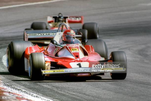 Niki Lauda, James Hunt, Ferrari 312T2, McLaren M23, Grand Prix of Spain, Jarama, 02 May 1976. Niki Lauda battling with James Hunt.