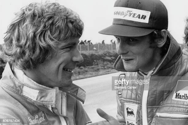 Niki Lauda, James Hunt, Grand Prix of Sweden, Anderstorp Raceway, 09 June 1974. Rivals but friends, James Hunt and Niki Lauda.