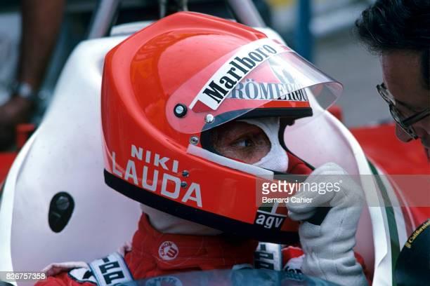 Niki Lauda, Mauro Forghieri, Grand Prix of Italy, Monza, 12 September 1976.
