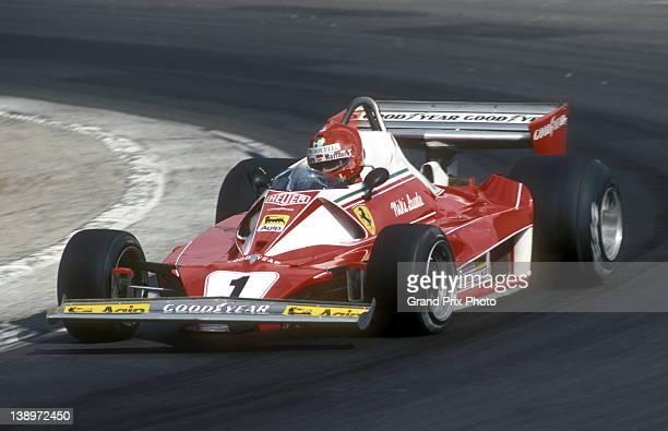 Niki Lauda of Austria drives the Scuderia Ferrari SpA Ferrari 312T2 Ferrari flat-12 during the John Player British Grand Prix 18th July 1976 at the...