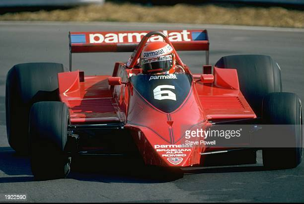 Niki Lauda of Austria in action in his Brabham Alpha during a Formula One race Mandatory Credit Steve Powell/Allsport