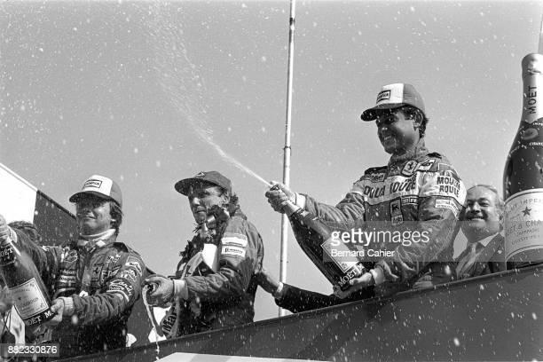 Niki Lauda,Patrick Tambay, Didier Pironi, Grand Prix of Great Britain, Brands Hatch, 18 July 1982.