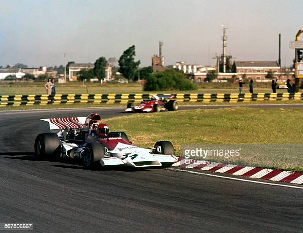 Niki Lauda's Formula 1 debut for the BRM team in a P160 at the Argentine GP Buenos Aires Autodrome Argentina 28 Jan 1973