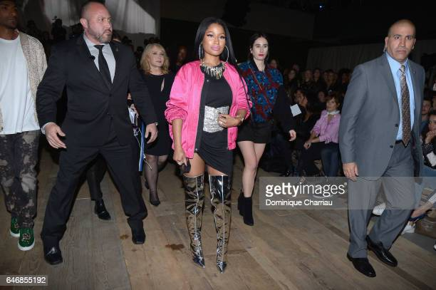 Niki Minaj attends the HM Studio show as part of the Paris Fashion Week> on March 1 2017 in Paris France