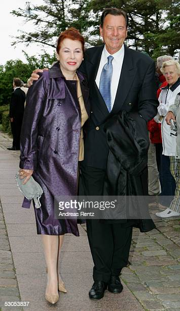 Niki Pilic Ex Davis cup Coach of Michael Stich and his wife Gorana poses at the Sankt Severin church on June 11 2005 at Sylt in Germany Michael Stich...