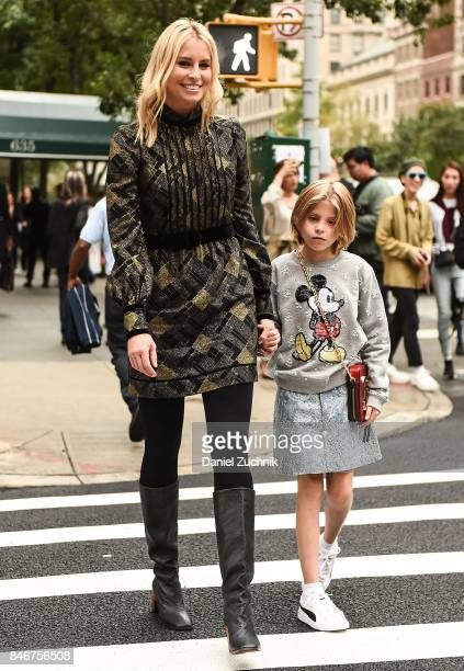 Niki Taylor and Ciel Taylor are seen outside the Marc Jacobs show during New York Fashion Week Women's S/S 2018 on September 13 2017 in New York City