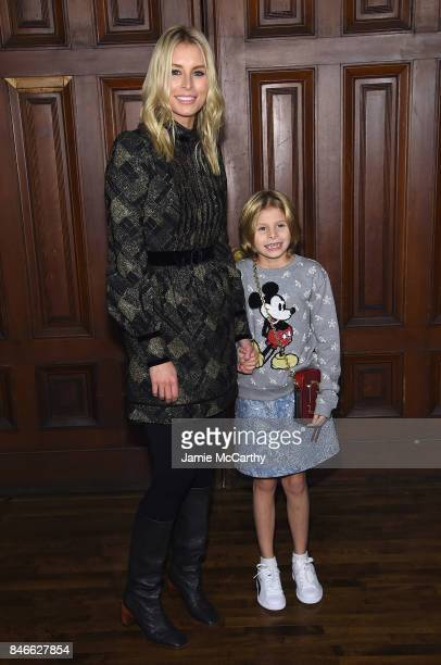 Niki Taylor and Ciel Taylor Lamar attend Marc Jacobs SS18 fashion show during New York Fashion Week at Park Avenue Armory on September 13 2017 in New...