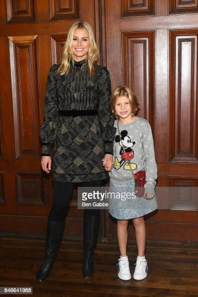 Niki Taylor and Ciel Taylor Lamar attend the Marc Jacobs Fashion Show during New York Fashion Week at Park Avenue Armory on September 13 2017 in New...