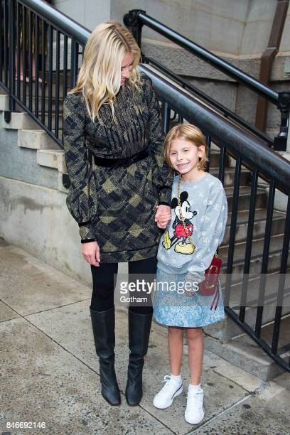 Niki Taylor and Ciel Taylor Lamar attend the Marc Jacobs fashion show at the Park Avenue Armory in the Upper East Side on September 13 2017 in New...
