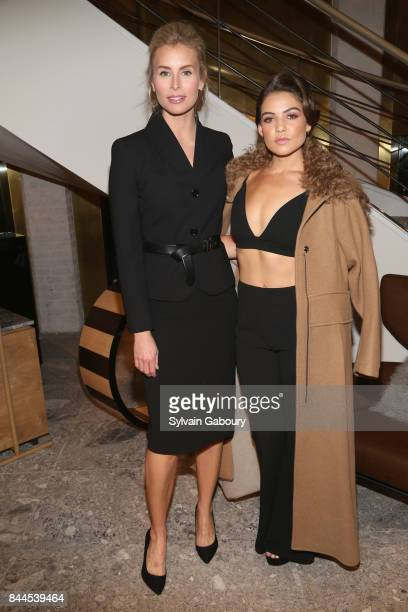 Niki Taylor and Danielle Campbell attend Max Mara Celebrates Madison Avenue Boutique Reopening on September 8 2017 in New York City
