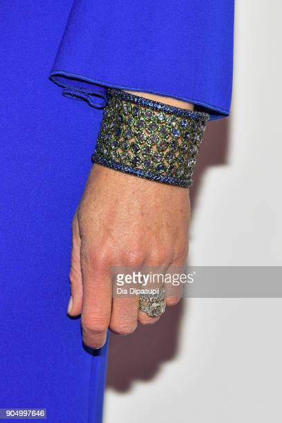 Niki Taylor bracelet/ring detail attends the 2018 National Retail Federation Gala at Pier 60 on January 14 2018 in New York City