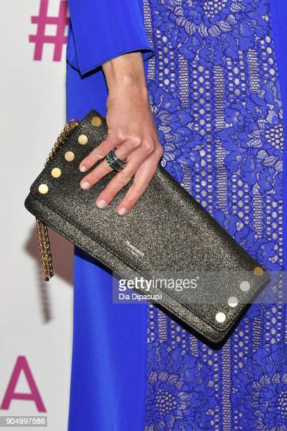 Niki Taylor clutch detail attends the 2018 National Retail Federation Gala at Pier 60 on January 14 2018 in New York City