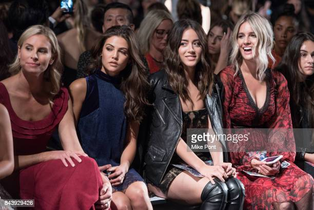 Niki Taylor Danielle Campbell Chloe Bennet and Sonia Young attend the Tadashi Shoji fashion show at Gallery 1 Skylight Clarkson Sq on September 7...