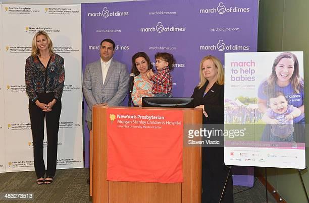 Niki Taylor Matthew Tortoso Briana Tortoso their son JohnCarlo Tortoso and Kari Mastro VP of Nursing Patient Care Services at New York Presbyterian...