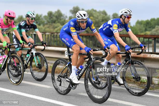 Niki Terpstra of Netherlands and Team Quick Step Floors / Maximilian Schachmann of Germany and Team Quick Step Floors / during the 14th BinckBank...