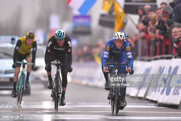 Niki Terpstra of The Netherlands and Team Quick-Step Floors / during the 73rd Dwars door Vlaanderen 2018 a 180,1km race from Roeselare to Waregem on...