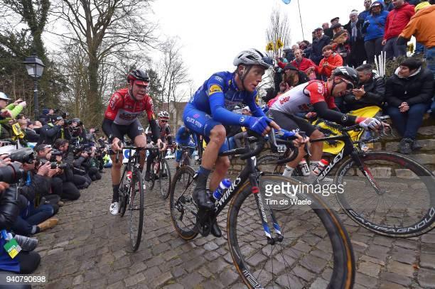 Niki Terpstra of The Netherlands and Team Quick-Step Floors / Jelle Wallays of Belgium and Team Trek Segafredo / Jens Debusschere of Belgium and Team...