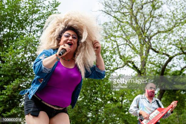 Niki Today Miss Travestie Holland 2016 take part during the Pride Walk in Amsterdam Netherlands on July 28 2018 During this opening activity the...