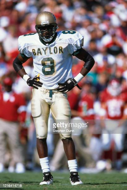 Nikia Codie, Defensive Back for the Baylor University Bears during the NCAA Big 12 Conference college football game against the University of...