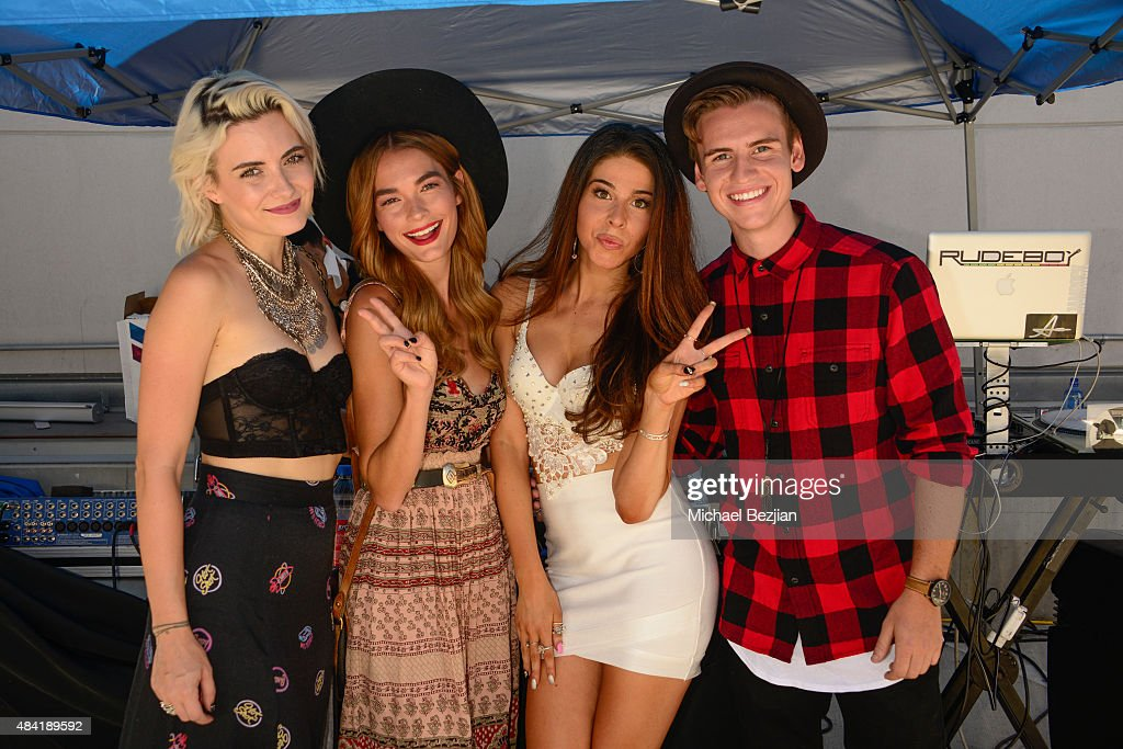 Nikia Lee Provenzano, Quigley, Jennifer Tapiero and Josh Tryhane attend American Idol Auditions At bBooth on August 15, 2015 in Culver City, California.