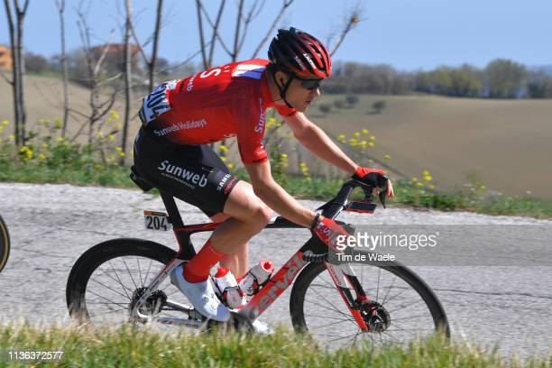 Nikias Arndt of Germany and Team Sunweb / during the 54th Tirreno-Adriatico 2019, Stage 5 a 180km stage from Colli al Metauro to Recanati 293m /...
