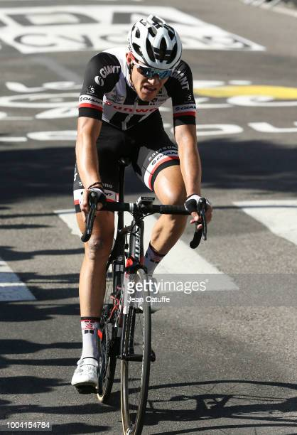 Nikias Arndt of Germany and Team Sunweb finishing stage 15 of Le Tour de France 2018 between Millau and Carcassonne on July 22, 2018 in Carcassonne,...