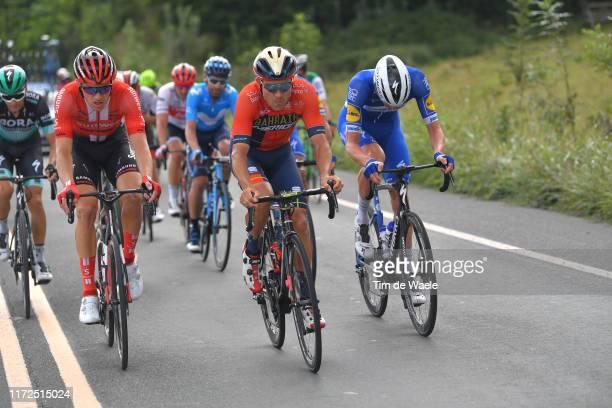 Nikias Arndt of Germany and Team Sunweb / Heinrich Haussler of Australia and Team Bahrain-Merida / Tim Declercq of Belgium and Team...