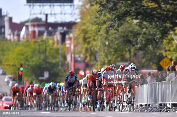 Nikias Arndt of Germany and Team Sunweb / Matteo Fabbro of Italy and Team Katusha Alpecin / Peloton / during the 9th Grand Prix Cycliste de Montreal...