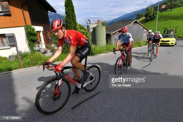 Nikias Arndt of Germany and Team Sunweb / Nathan Haas of Australia and Team Katusha Alpecin / Simon Pellaud of Switzerland and Team Switzerland /...