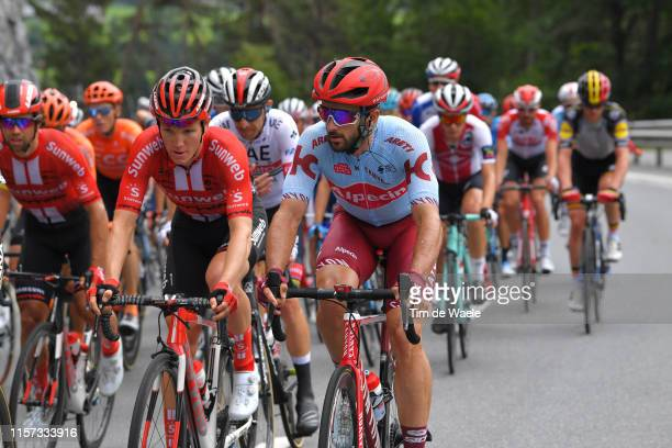 Nikias Arndt of Germany and Team Sunweb / Nathan Haas of Australia and Team Katusha Alpecin / during the 83rd Tour of Switzerland, Stage 7 a 216,6km...