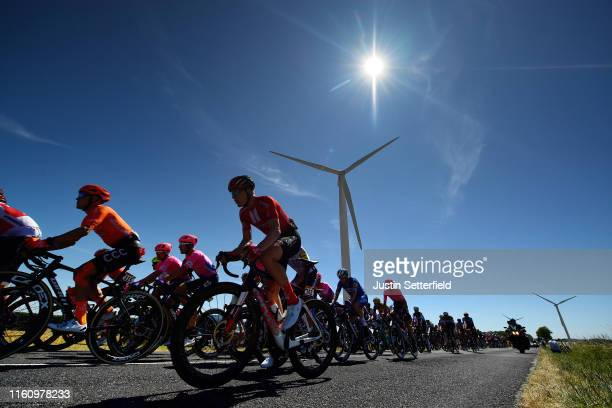Nikias Arndt of Germany and Team Sunweb / Serge Pauwels of Belgium and CCC Team / Peloton / Landscape / Silhouette / Windmill / during the 106th Tour...