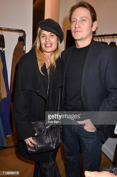 Nikita aka Nathalie Lespinasse and Benoit Magimel attend the Gerard Darel Flagship Opening With Robin Wright on March 9 2011 in Paris, France.