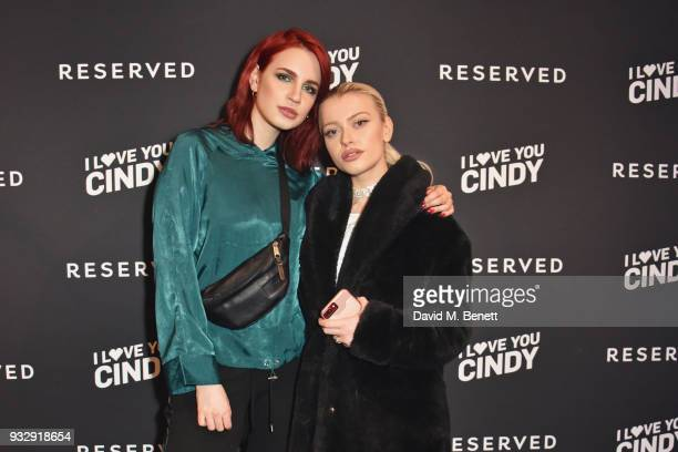 Nikita Andrianova and Alice Chater attend the Reserved iLoveYouCindy campaign launch event at Kachette on March 16 2018 in London England