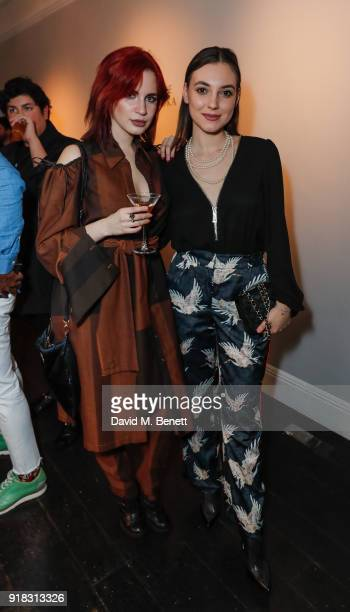 Nikita Andrianova and Andreea Cristea attend the launch of Cafe Belvedere a dedicated Belvedere and coffee cocktail popup open from Thursday until...