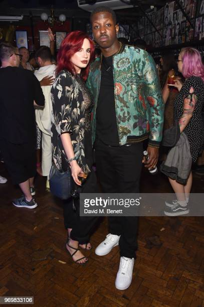 Nikita Andrianova and Jamal Edwards attend the TOPMAN LFWM party during London Fashion Week Men's June 2018 at the Phoenix Artist Club on June 8 2018...